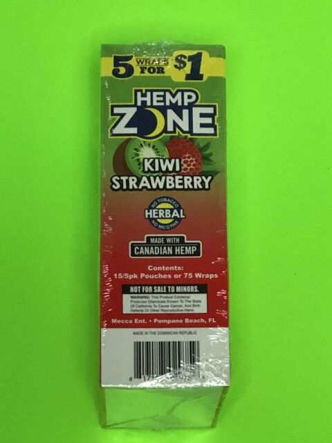 15 Pack Hemp Zone Natural-75 Wraps Rillo Size with FREE TUBE /& SCOOP CARD