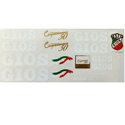 Gios complete set of decals vintage