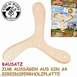 bumerang 3 fl gler kinder zum selber gestalten aus holz anf nger boomerang neu ebay. Black Bedroom Furniture Sets. Home Design Ideas