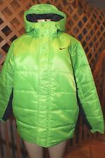 $150 NIKE   GREEN AND BLACK  FULL ZIP MENS PARKA  JACKET SIZE L