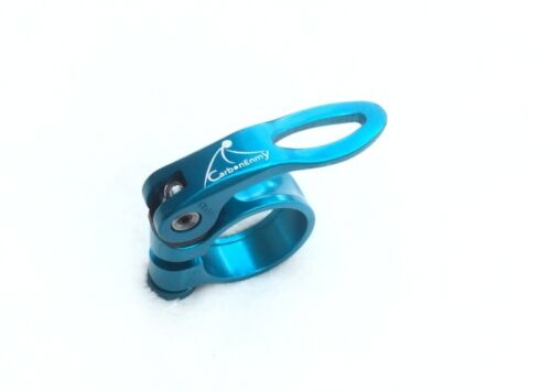 Alloy Bicycle Seat clamp With Quick Release 31,8 mm CarbonEnmy