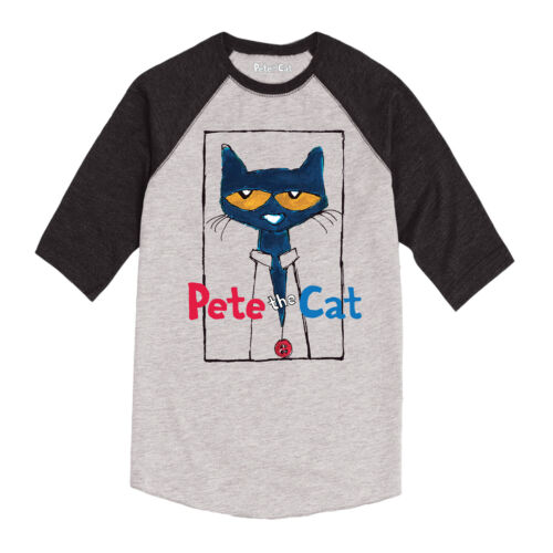 Pete the Cat  Frame with Button-Youth Raglan