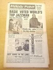 MELODY MAKER 1957 OCTOBER 12 COUNT BASIE RUSS HAMILTON JAZZ BIG BAND SWING