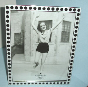 Kate Spade Pierrepont Place Spots Picture Frame 8x10 Silverplate