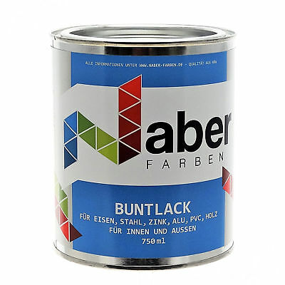(14,99 €/l) 1 L Buntlack - Ral 6020 ChromoxidgrÜn - Seidenglanz