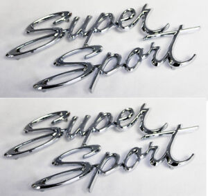 "1967 1967 66 67 Nova /"" Super Sport /"" Quarter Panel Emblem USA Pair Trim Parts"