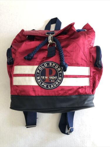 Vintage 90s Polo Sport 12m Yacht Challenge  Backpa