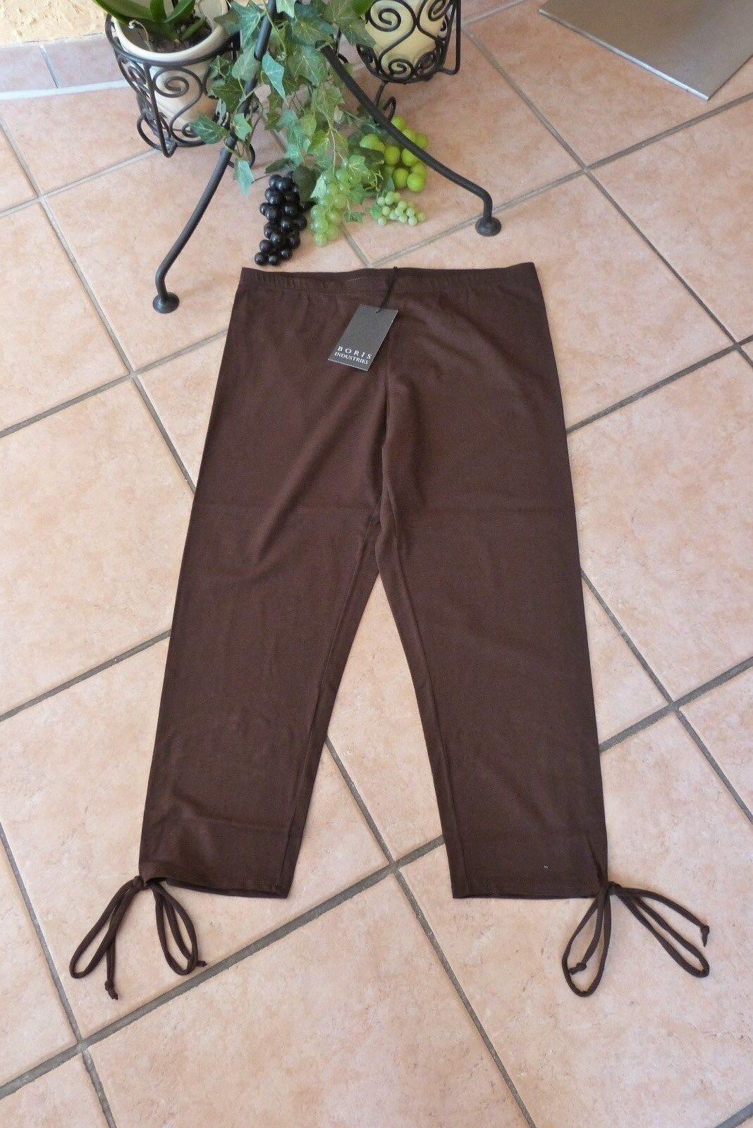 BORIS INDUSTRIES 7 8 Leggings 42 44 (3) NEU schokobrown Bänder LAGENLOOK Stretch