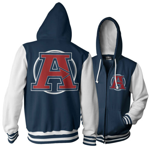 Officially Licensed The Avengers Varsity Zipped Hoodie S-XXL Sizes