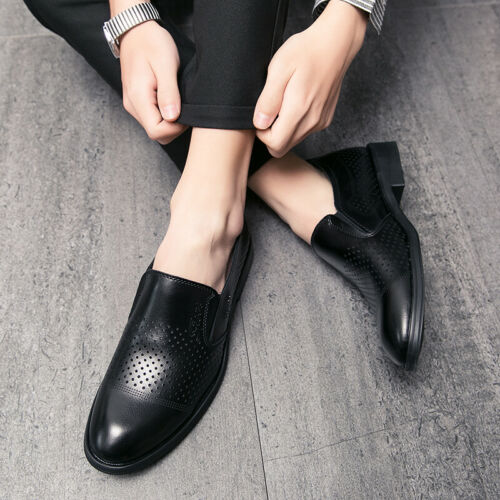 Details about  /Men Pointy Toe Oxfords Hollow out Breathable Party Dress Formal Business Shoes D