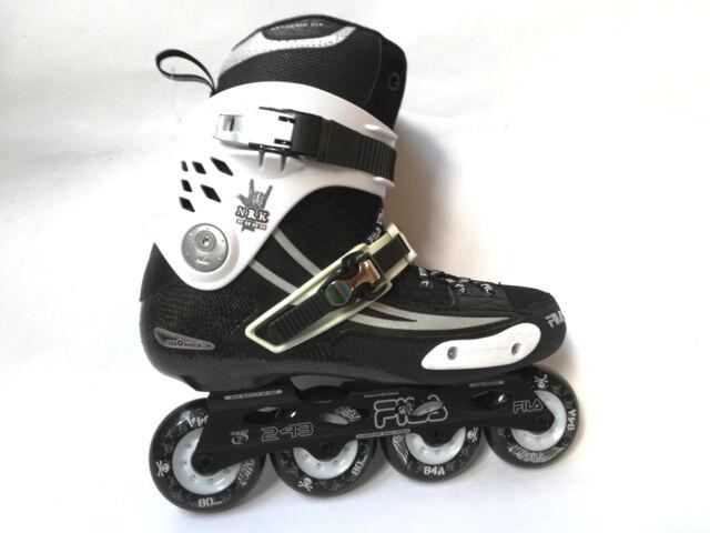 Fila NRK Road Slalom Freeskate Streetskate Inliner - Black  White Gr. 45