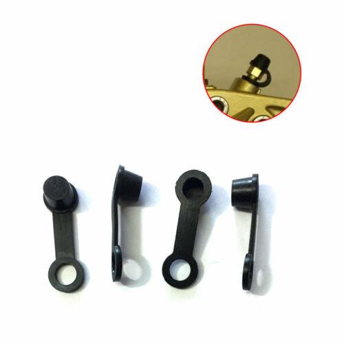 4x Replacement Part Brake Caliper Bleed Nipple Screw Dust Cap Cover Universal