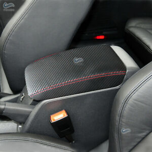 For-VW-Golf-MK6-VI-2010-2013-Carbon-Fiber-Leather-Center-Console-Armrest-Cover