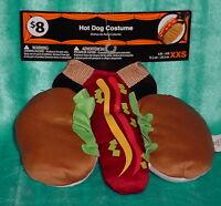 Hotdog Costume Tan/red Size Xxsm