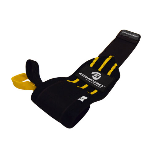 Black /& Yellow Gripad Wrist Wraps