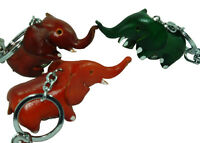 Genuine Leather Key-Chain/Bag-Charm,Lovely Elephant Shape, More color choice.
