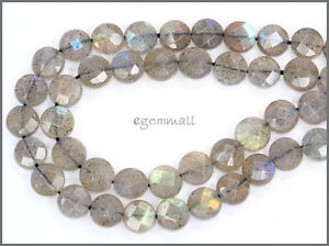 Blue Rainbow Labradorite Round Beads 8mm Grade A #85377