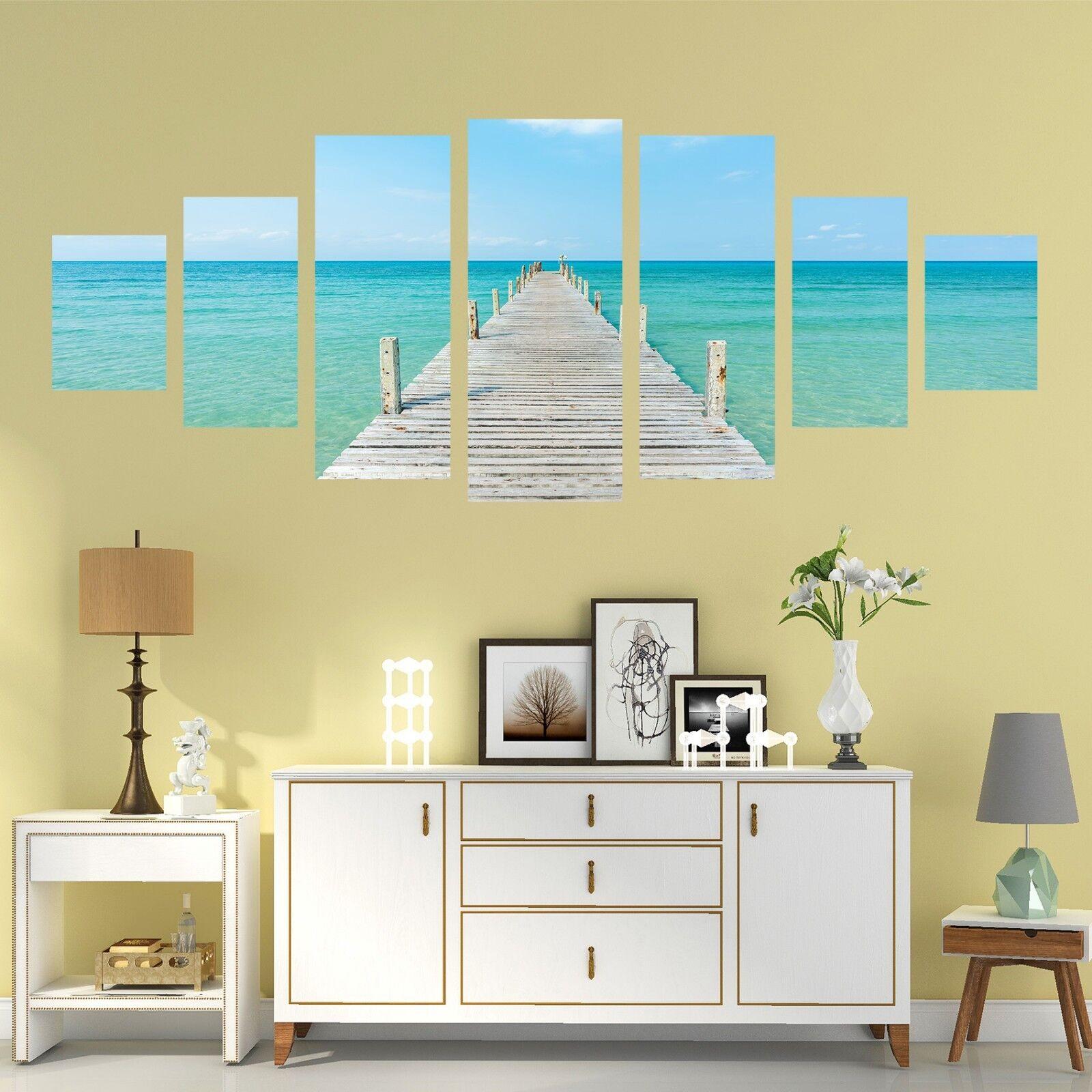 3D bluee Coastal 58 Unframed Print Wall Paper Decal Wall Deco Indoor AJ Wall