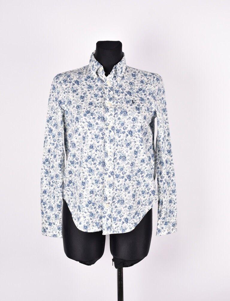 Ralph Lauren mit Blaumen Damen Hemd Größe 2