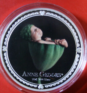 "Niue 2 dollars 2012"" Anne Geddes ""plata 1 Oz #f3816 colored pp-proof 3k rare!"