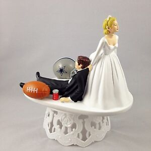 wedding cake toppers dallas tx wedding cake topper football themed dallas cowboys 26447