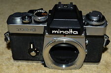 MINOLTA XE-5 SLR 35MM FILM CAMERA WITH ORIGINAL OWNERS MANUAL MADE IN JAPAN