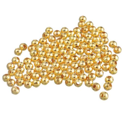 collier bijoux 50 Perle Metal couleur Doré 5mm Brillant Creation bracelet