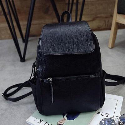 Women Korean Style PU Leather Backpack Shoulder School Bag Trend Of College JL