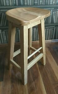 Image Is Loading Reguiny Oak Kitchen Breakfast Bar Stools Solid Wood