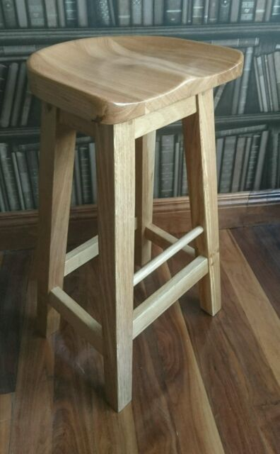 new style 57434 89a45 Reguiny   Oak Kitchen Breakfast Bar Stools   Solid Wood Stool    Dinning  Seat