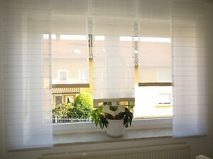 Gardinen - Set 6 teilig neu modern Flächenteile Schiebevorhang ...