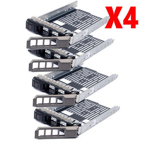Lot-of-4-3-5-034-SATA-SAS-Hard-Drive-Tray-Caddy-For-Dell-PowerEdge-R420-US-Seller