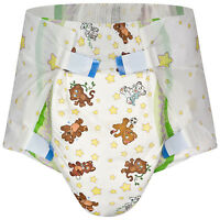 All Adult Cuddle Crinklz Diaper - 4 Piece Pack With Design