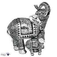 Shudehill Mosaik Spiegel Silber Elefantenbaby Schmuck Geschenk Heimbüro Figur