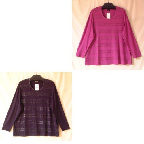Weber By Jersey Shirt a Ladies in maniche Girocollo Gerry Samoon lunghe viscosa gr New RtHwxTw