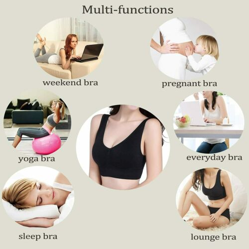 Details about  /PRETTYWELL Sleep Bras for Women Comfort Seamless Wireless Stretchy Sports