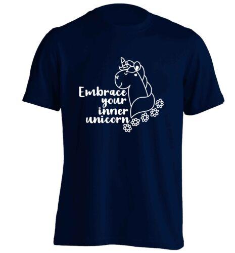 Embrace your inner unicorn t-shirt fantasy animals mermaids fairies joke  5185