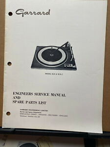 Original Service Manual for Garrard SLX SLX-2 Turntables ~Operating Ins