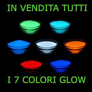 Pigment Additif Poudre Luminescent Phosphorescent Choix 10/20/50gr 7 Color