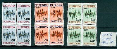 (1505d) Portugal 4 Postfrische Sätze Europa 1972 Im Viererblock Der Preis Bleibt Stabil
