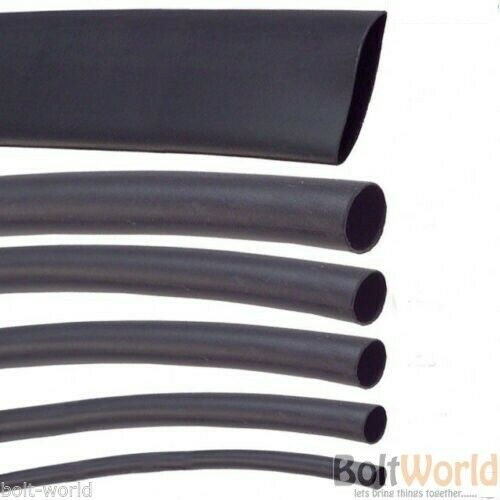 1.2mm BLACK HEAT SHRINK CAR ELECTRICAL TUBE TUBING SLEEVING WRAP CABLE 2:1 RATIO