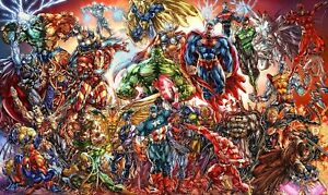 DC-And-Marvel-Comics-CANVAS-WALL-ART-PICTURE-20X30-INCHES