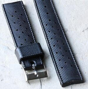 SUB-18mm-old-tropic-type-divers-watch-strap-1960s-70s-nice-soft-rubber-42-sold