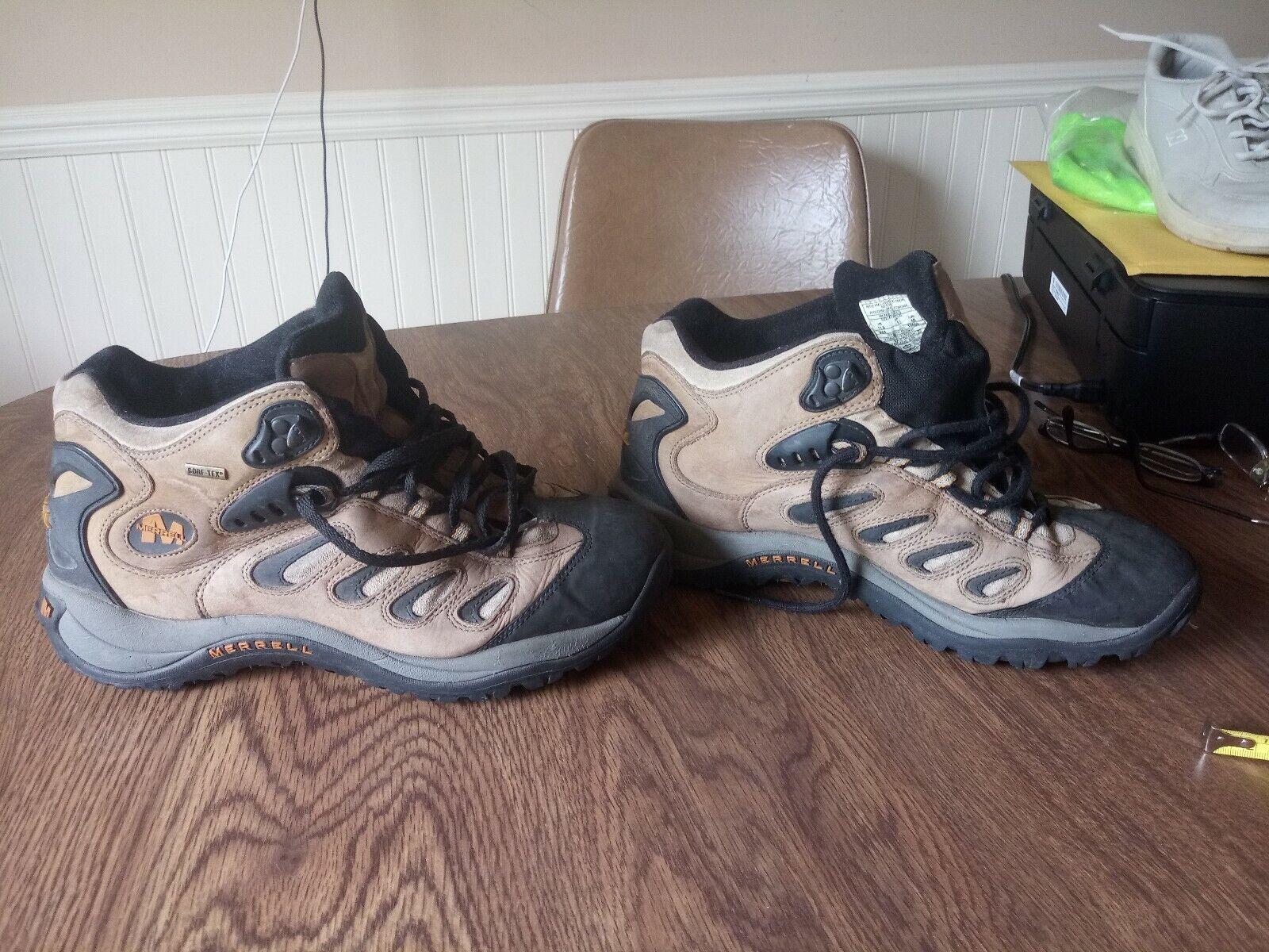 Merrell Hiking Stiefel. Herren Größe 11.5. Model 0404 10699 Gore-tex Smoke Reflex