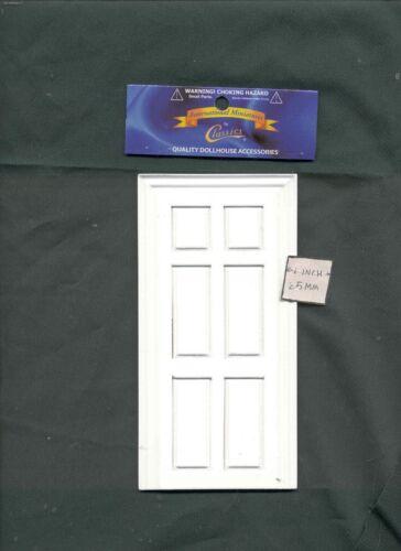 Fake Interior 6-Panel Door Fairy dollhouse false miniature 1//12 scale CLA70130