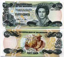Bahamas billet neuf de 1/2 dollar pick 68 UNC