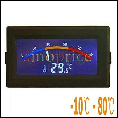 LCD Digital Thermometer Temperature C/F PC MOD Temp Range -10/- 80Degree SI513
