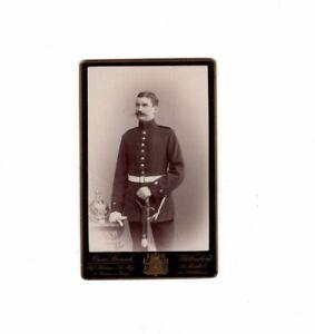 CDV-Foto-Soldat-mit-Pickelhaube-Wittenberg-um-1890