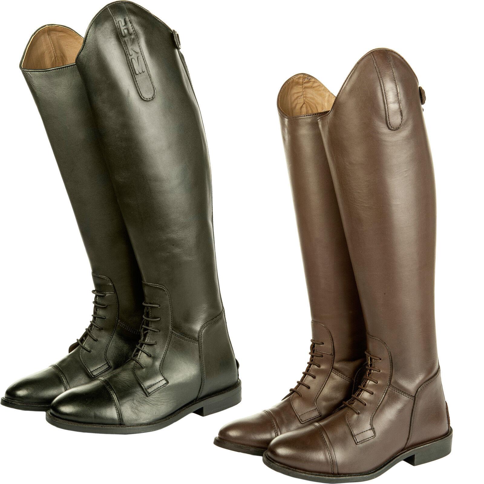 Reitbotas-spain-, Soft cuero-corta ancho estándar-HKM