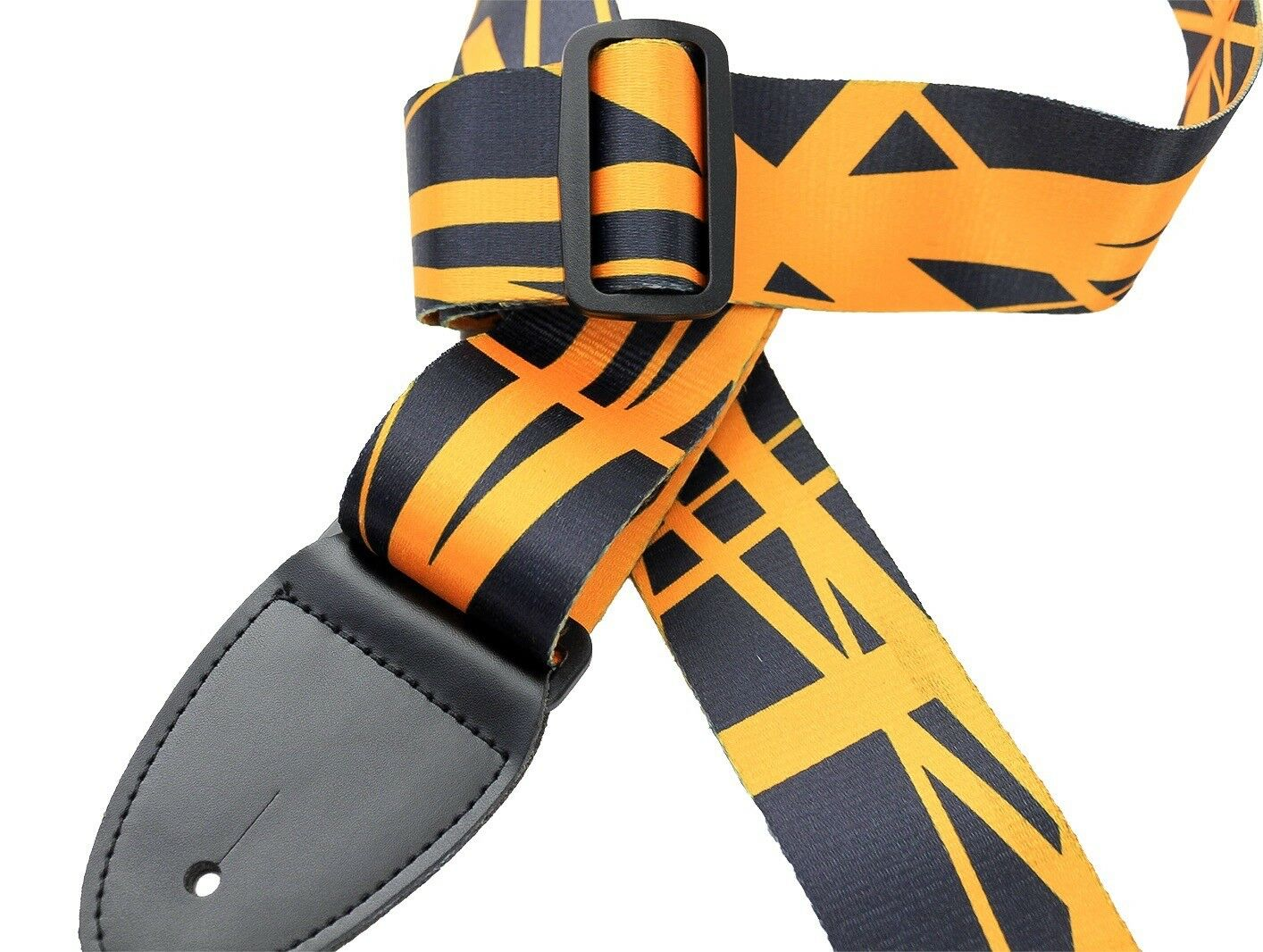 Walker /& Williams TS-85 Orange /& Black Guitar Strap